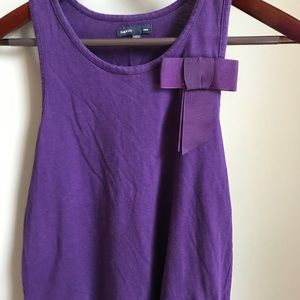 purple tank with bow from Gap Kids, size xl!!